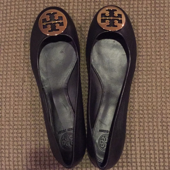 Tory Burch Shoes - Tory Burch Reva Mistico black flats